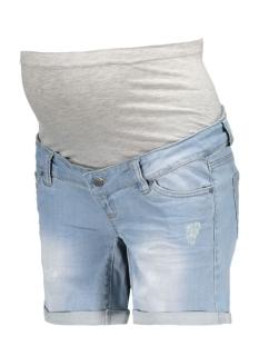 mltessa denim shorts 20006082 mama-licious positie broek light blue denim