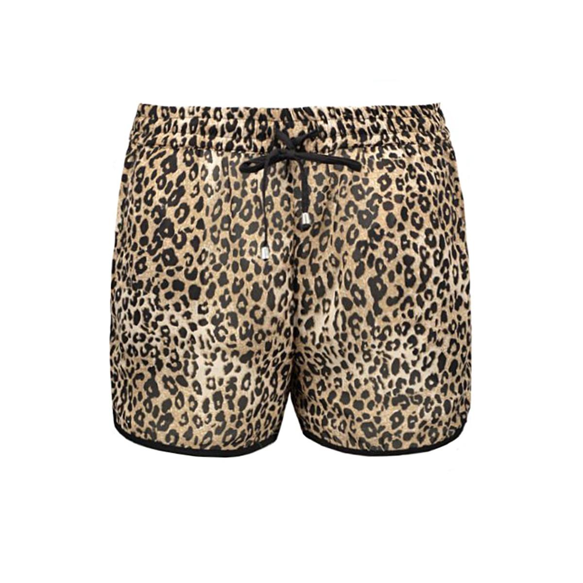 onlkira leo shorts wvn 15126157 only korte broek black/leo print