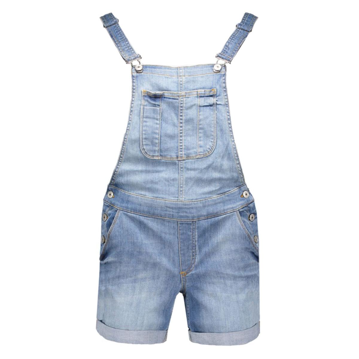 onlnew kim witty dnm overallshortcr 15114968 only jumpsuit light blue denim