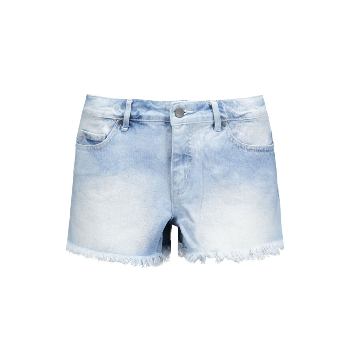 pcjust tiffany rlw shorts/lbld noos 17071617 pieces korte broek light blue denim