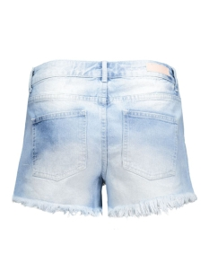 pcjust tiffany rlw shorts/lbld noos 17071617 pieces korte broek light blue denim