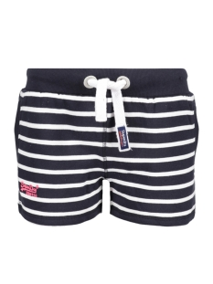 Superdry Korte broek G71000XO NAVY WHITE STRIPE