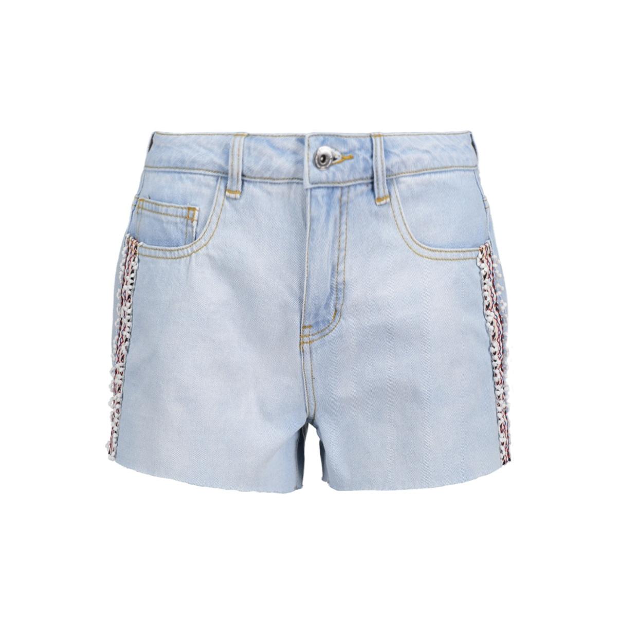 vmstephanie hw shorts gu787 10176275 vero moda korte broek light blue denim