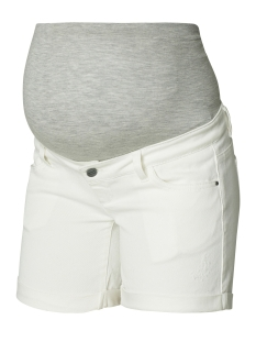 Mama-Licious Positie broek MLSIGGA DENIM SHORTS 20007267 Antique White