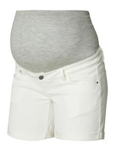 Mama-Licious Positie broek MLSIGGA DENIM SHORTS 20007267 Antique White