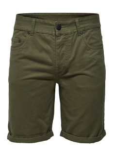 onsloom twill shorts exp 22008389 only & sons korte broek olive night