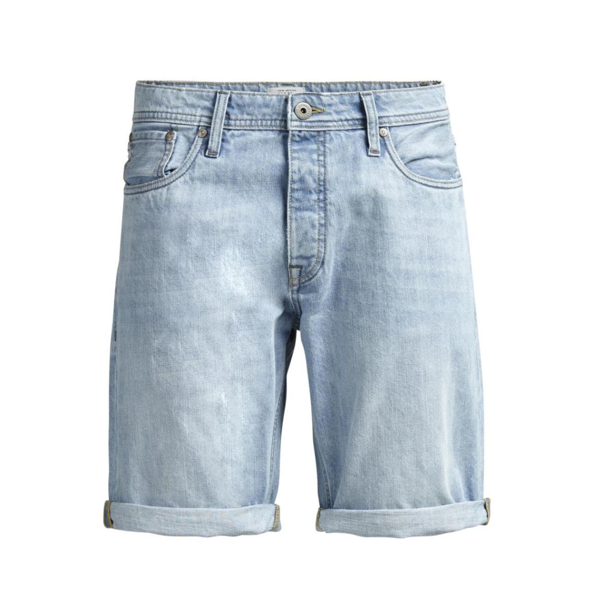 jjirick jjoriginal shorts am 106 st 12116413 jack & jones korte broek blue denim