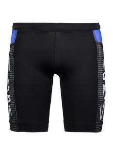 52837 running short sans sport short blauw wit