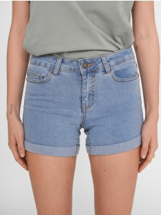 nmbe lucy nw den fold shorts gu818 27001243 noisy may korte broek light blue denim
