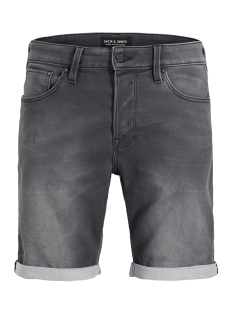 jjirick jjicon  shorts ge 443 i.k. 12132200 jack & jones korte broek grey denim