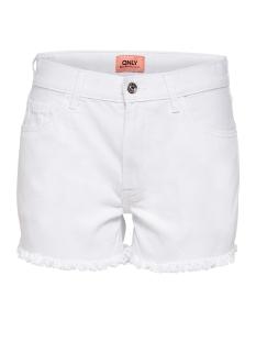 Only Korte broek onlDIVINE CROP DNM SHORTS WHITE NJ 15155114 White