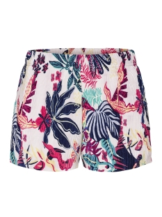 Only Korte broek onlCASSIE SHORTS JRS 15156285 Bright White/TROPICAL B