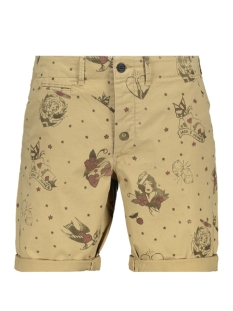 Jack & Jones Korte broek JJIENZO JJCHINO SHORTS WW PRINT CAM 12136279 Brindle