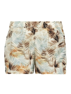 Only Korte broek onlNOVA AOP SHORTS LUX  WVN 15158122 Cloud Dancer/SUMMER LEAF