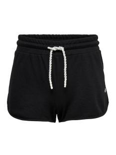 Only Play Sport short ONPMATHILDA SWEAT SHORTS 15166257 Black/W.WHITE