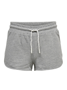 Only Play Sport short ONPMATHILDA SWEAT SHORTS 15166257 Light Grey Mela/W.WHITE