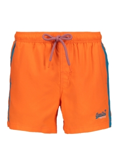 Superdry Korte broek BEACH VOLLEY SWIM SHORT M30010AT SUNBLAST ORANGE
