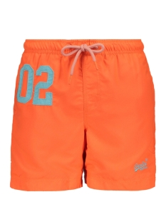 Superdry Korte broek WATER POLO SWIM SHORT M30018AT HAVANA ORANGE