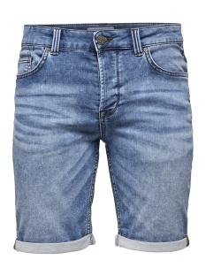 onsply sw blue shorts pk 2019 noos 22012019 only & sons korte broek blue denim