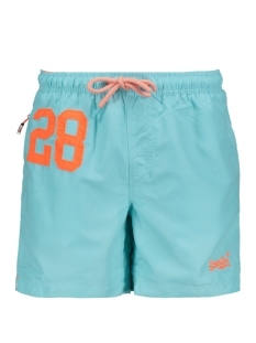 Superdry Korte broek WATER POLO SWIM SHORT M30018AT LIGHT LAGOON BLUE