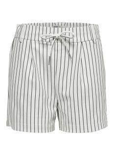 onlpoptrash rush stripe shorts pnt noos 15179977 only korte broek cloud dancer/w. black