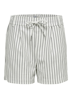 Only Korte broek ONLPOPTRASH RUSH STRIPE SHORTS PNT NOOS 15179977 Cloud Dancer/W. BLACK