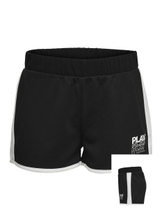 Only Play Sport short ONPHERMOSA UNI SWEAT SHORTS 15173756 Black/W. WHITE