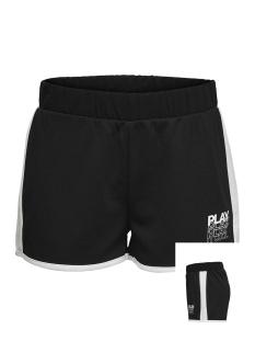 Only Play Sport short ONPHERMOSA UNI SWEAT SHORTS 15173756 Black/W. WHITE