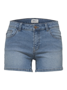 onlcarmen reg dnm shorts bb  mah114 15176796 only korte broek light blue denim