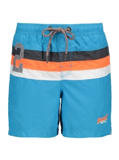 Superdry Korte broek WATER POLO STRIPE SWIM M30107AR TROPICAL AQUA