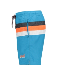 water polo stripe swim m30107ar superdry korte broek tropical aqua