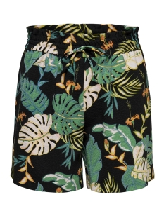 Only Korte broek ONLPIPER MW PAPERBAG AOP SHORTS TLR 15176596 Black/W. CLOUD DANCER