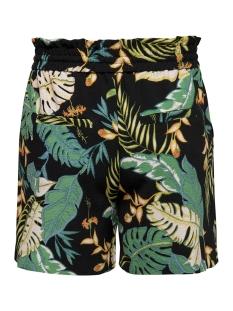 onlpiper mw paperbag aop shorts tlr 15176596 only korte broek black/w. cloud dancer