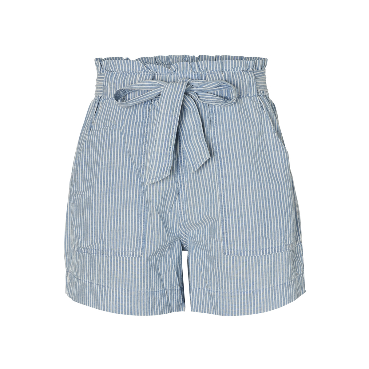 vmemily hr chambray pocket shorts g 10211707 vero moda korte broek light blue deni/white