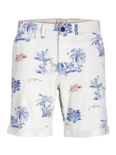 Jack & Jones Korte broek JJIENZO CHINO SHORTS WW 01 PRINT ST 12153535 Star White/FLOWER AOP