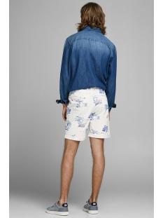 jjienzo chino shorts ww 01 print st 12153535 jack & jones korte broek star white/flower aop