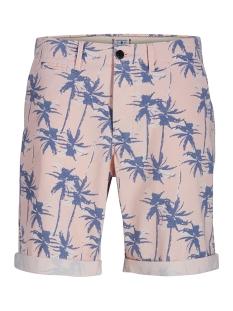 jjienzo chino shorts ww 01 print st 12153535 jack & jones korte broek lotus/flower aop
