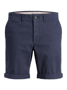 jjienzo chino shorts ww 01 print st 12153535 jack & jones korte broek navy blazer/mini print