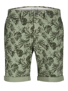 Jack & Jones Korte broek JJIENZO CHINO SHORTS WW 01 PRINT ST 12153535 Olive Night/FLOWER AOP