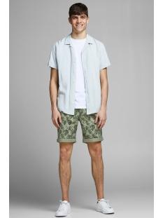 jjienzo chino shorts ww 01 print st 12153535 jack & jones korte broek olive night/flower aop