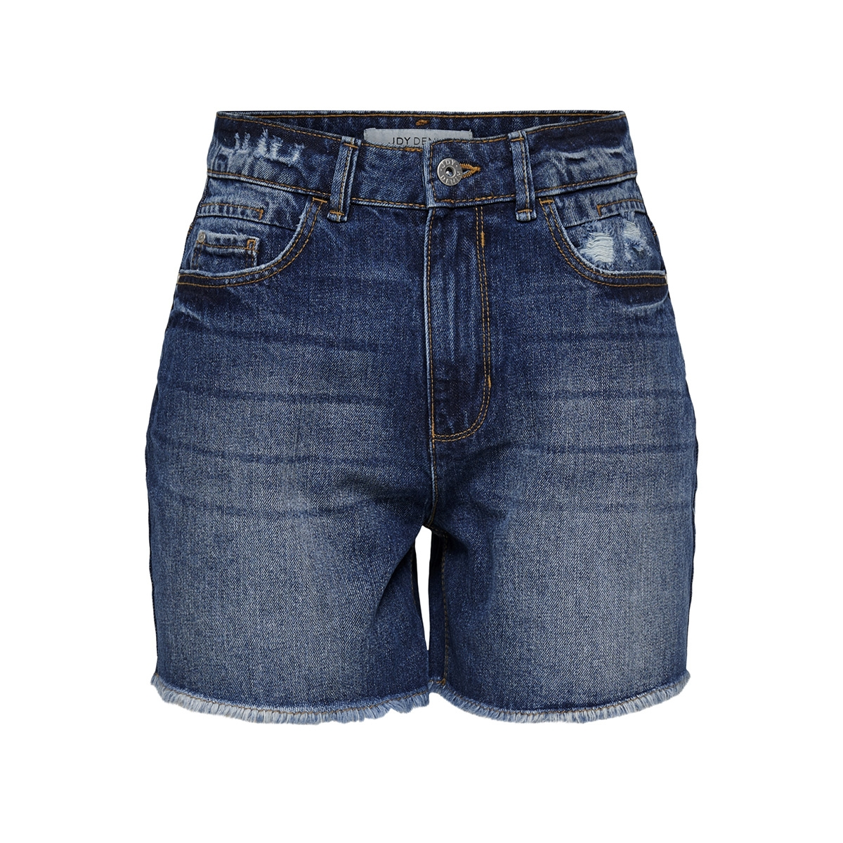 jdyketty high denim shorts  m blue 15176030 jacqueline de yong korte broek medium blue denim