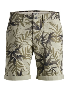 Jack & Jones Korte broek JJIENZO CHINO SHORTS WW 01 PRINT ST 12153535 Kelp/FLOWER AOP