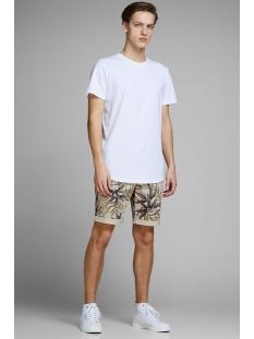 jjienzo chino shorts ww 01 print st 12153535 jack & jones korte broek kelp/flower aop