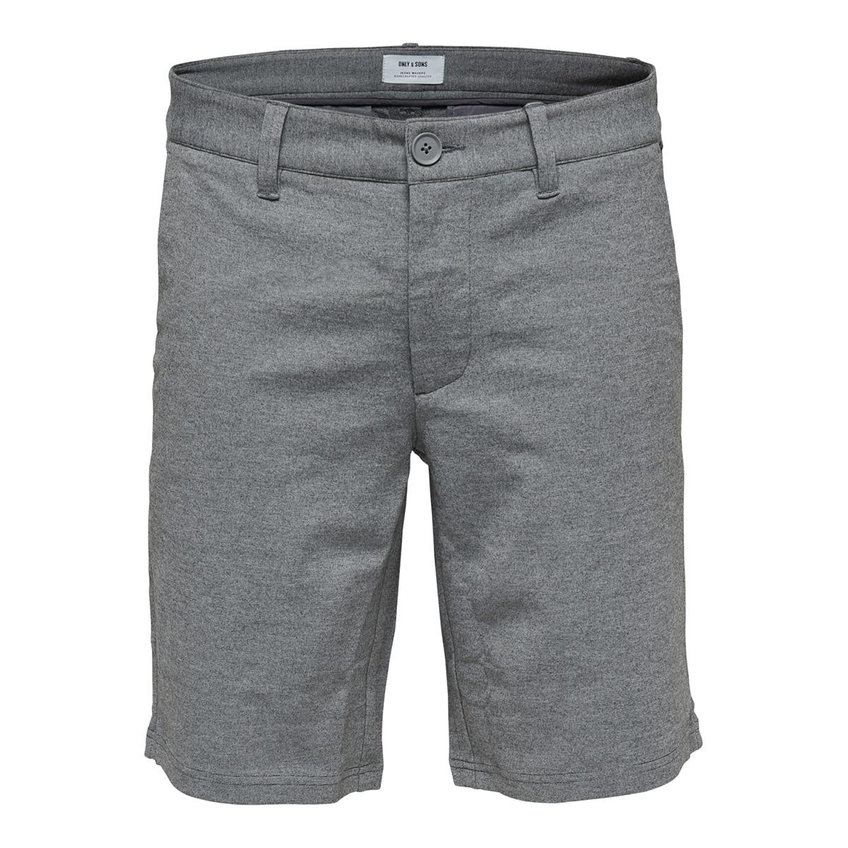 onsmark shorts gw 3786 noos 22013786 only & sons korte broek medium grey melange