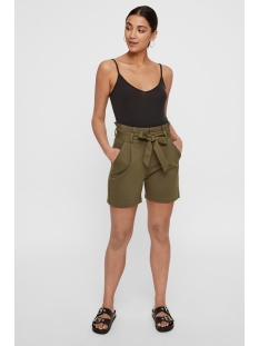 vmeva hr paperbag short shorts color 10216672 vero moda korte broek ivy green