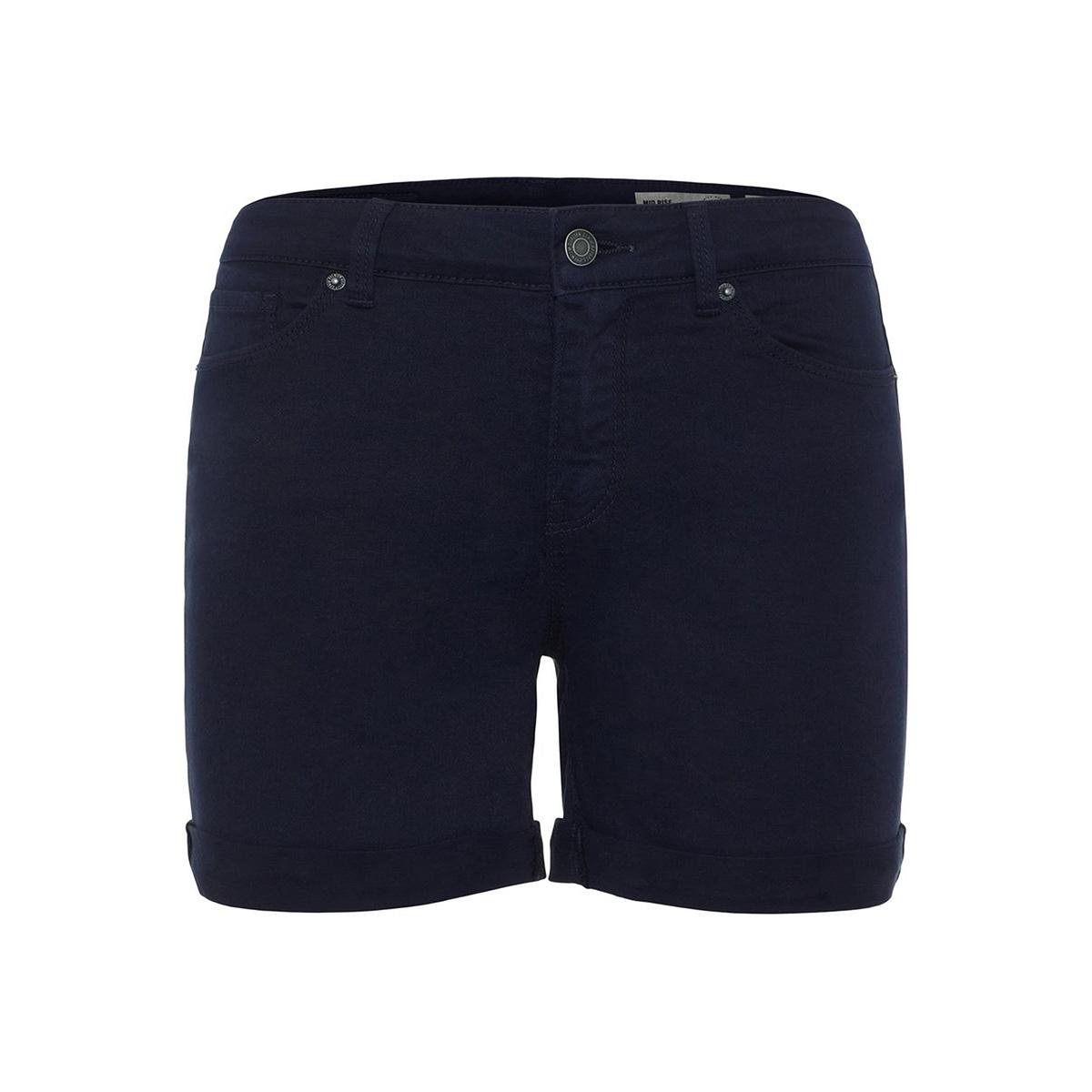 vmhot seven mr fold shorts color 10209883 vero moda korte broek night sky