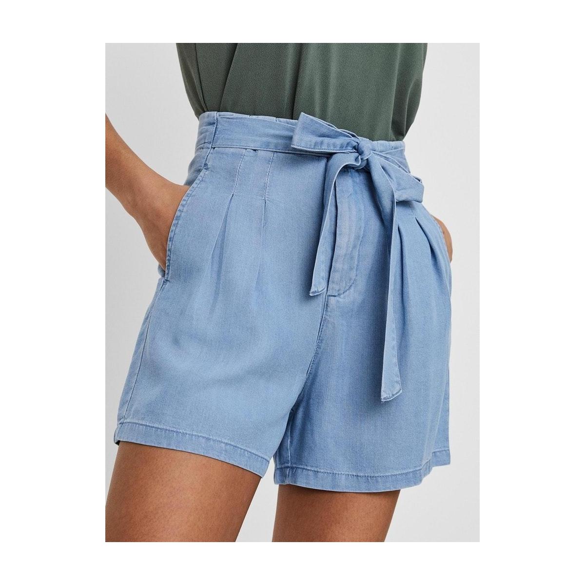 vmmia hr loose summer shorts ga 10209543 vero moda korte broek light blue denim