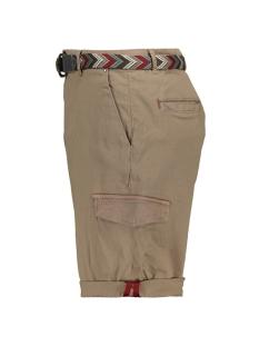 stretch short met riem 908170384 no-excess korte broek 043 khaki