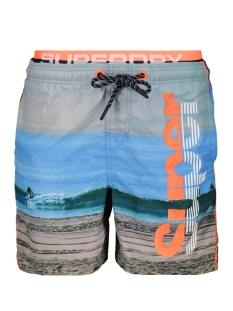 Superdry Korte broek PHOTOGRAPHIC VOLLEY SWIM SHORT M30014AT SUPERDRY SURF