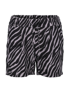 Only Korte broek ONLPOPTRASH EASY AOP  SHORTS PNT 15177264 Black/ZEBRA PRINT